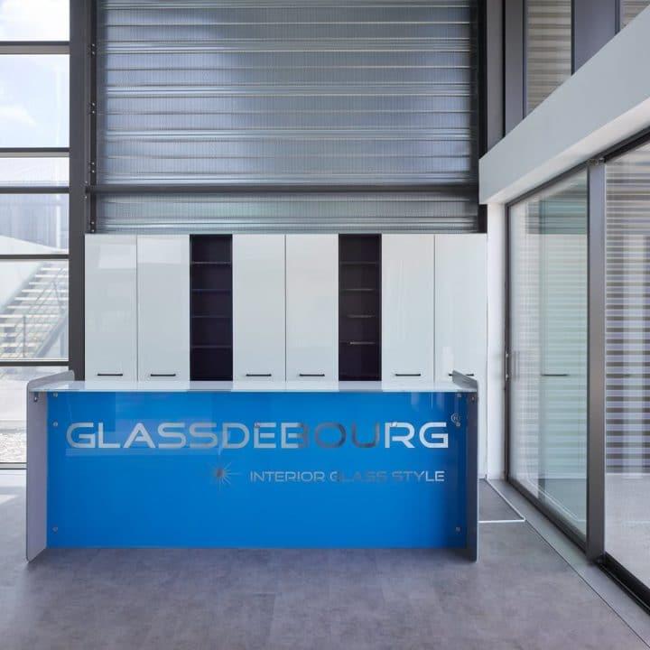Mobilier en verre avec impression numérique