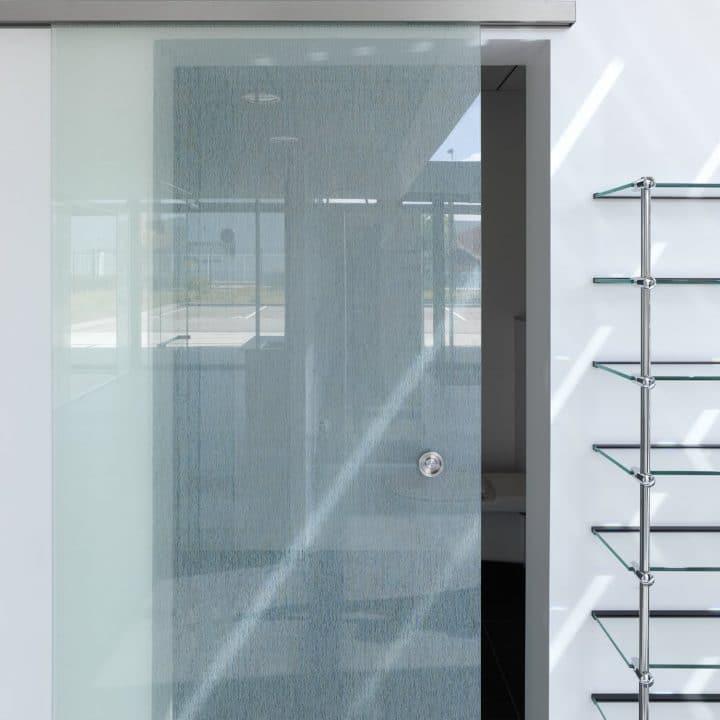 Portes en verre coulissantes