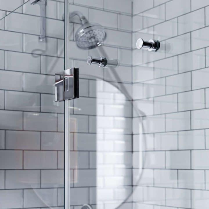 Paroi de douche en verre de sécurité