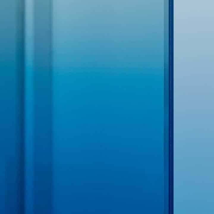 Verre teinté dégradé bleu