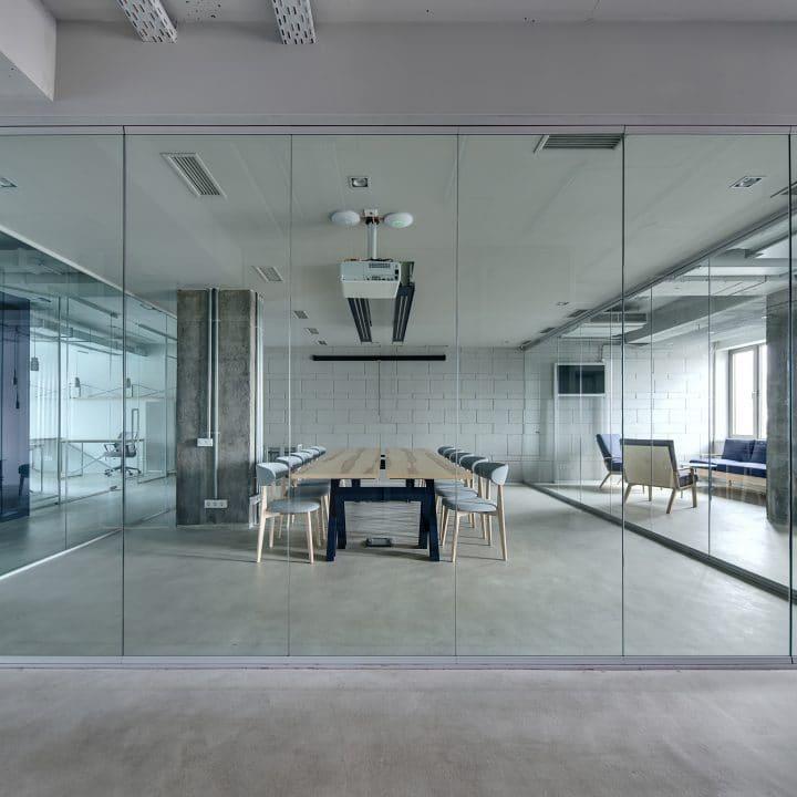 Parois de bureau en verre et porte de bureau en verre