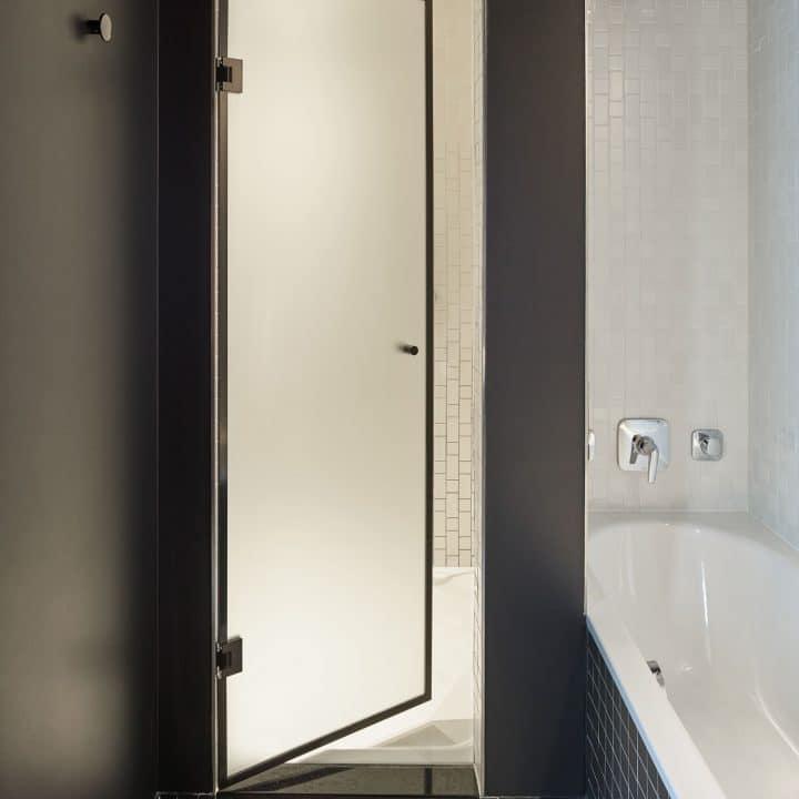 Porte en verre opaque