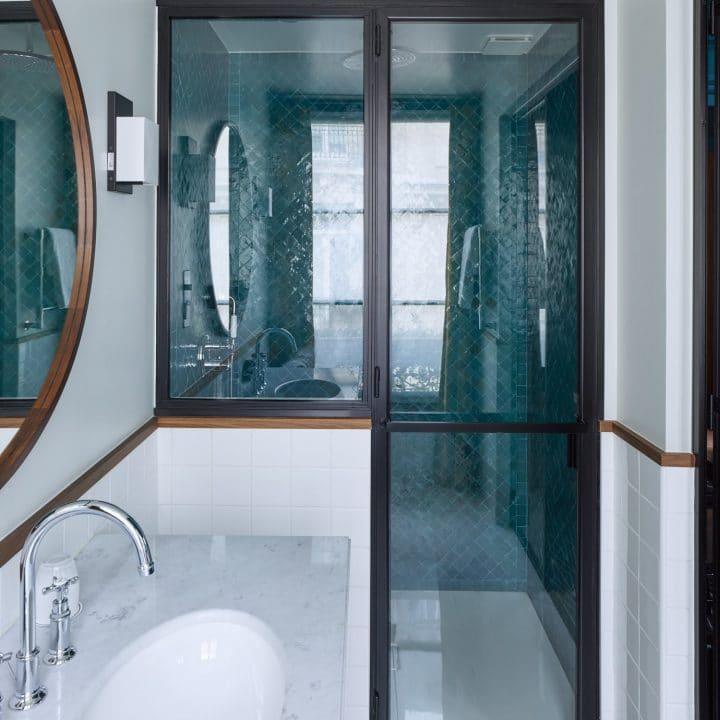 Porte de douche en verre