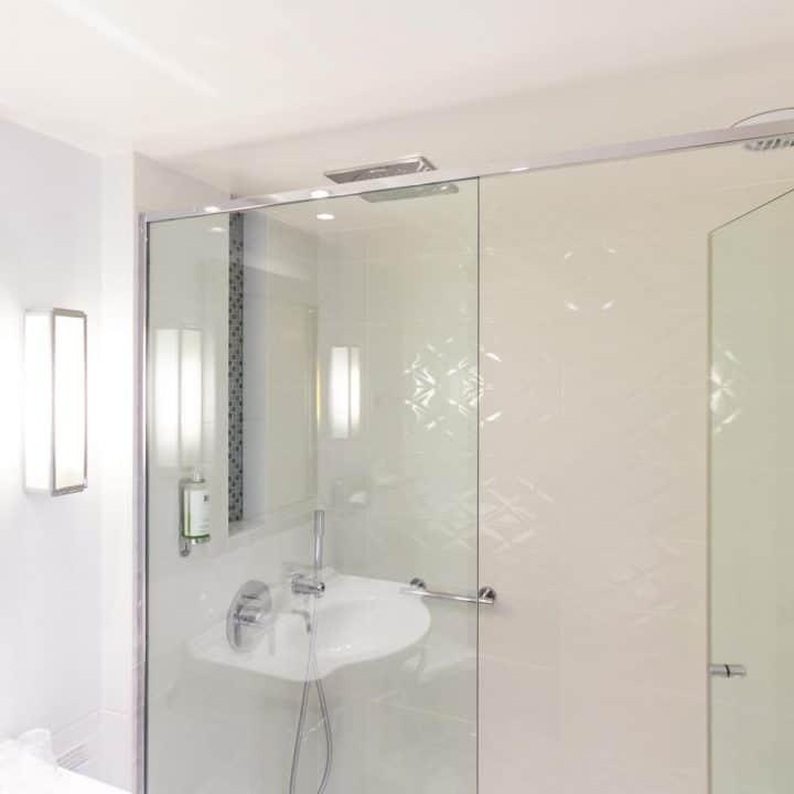 Porte de douche en verre de sécurité
